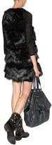 Anna Sui Faux Fur Combo Vest in Black