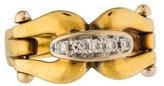 Gucci 18K Diamond Horsebit Ring