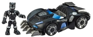 Hasbro Playskool Heroes Marvel Super Hero Adventures Black Panther Road Racer, 5-Inch Figure and Vehicle Set, Collectible Toys for Kids Ages 3 and Up