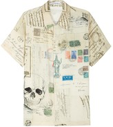 Alexander Mcqueen Letters From India Printed Shirt