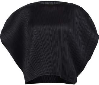 Pleats Please Issey Miyake Puff Sleeve Top