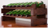Wine Rack 14 2 Layers of 7 Bottle Width Finish: Matte Stain