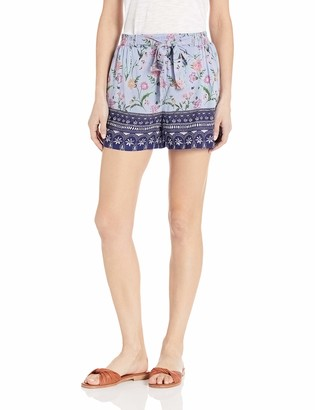 Angie Women's Tie High-Waist Printed Short