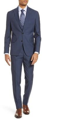 Ted Baker Konan Trim Fit Check Wool Suit