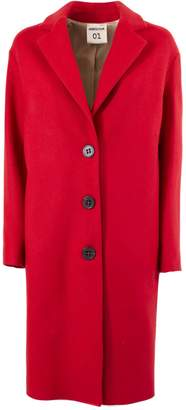 Semi-Couture Semicouture SEMICOUTURE Red Wool Single-breasted Fitted Coat