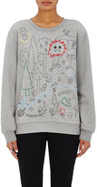 Mira Mikati Women's Embroidered French Terry Sweatshirt-GREY
