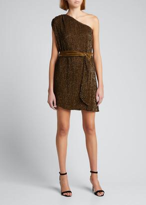retrofete Ella One-Shoulder Sequined Dress