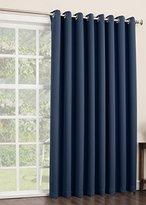Sun Zero Easton Extra Wide Blackout Energy Efficient Grommet Patio Door Curtain Panel, 100 x 84 Inch, Navy Blue