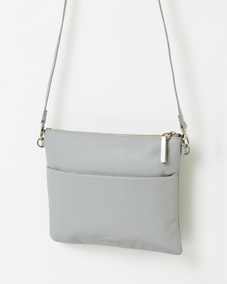 Stitch & Hide - Women's Grey Leather bags - Juliette Clutch Bag - Size One Size at The Iconic