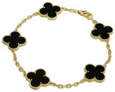 Van Cleef & Arpels Alhambra 18k Yellow Gold Onyx Bracelet