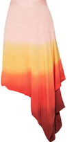 J.W.Anderson Layered Dégradé Stretch-crepe Midi Skirt - Bright orange