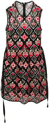 RED Valentino Love Celebration embroidered dress