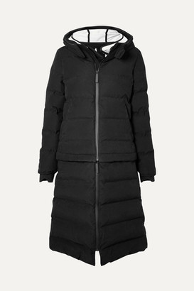 TEMPLA 3l Verba Convertible Hooded Quilted Down Ski Coat - Black