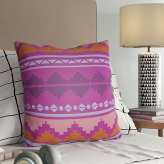 """Brock Indoor / Outdoor Striped Pillow Cover Trule Teen Size: 22"""" H x 22"""" W, Color: Bright Purple"""