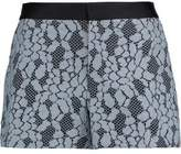 Alexis Jaeger Satin-Trimmed Corded Lace Shorts