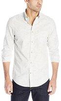 Ben Sherman Men's Long Sleeve Slub Button Down Shirt