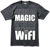 Customised Perfection Magic WiFi LiFi Funny Geek Nerd Big Bang Theory T Shirt L Grey