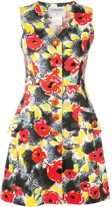Chanel Pre Owned 1997 Floral Sleeveless Dress