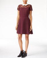 Maison Jules Lace-Trim A-Line Dress, Only at Macy's