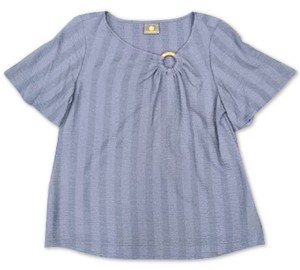 JM Collection Petite Striped O-Ring Top, Created for Macy's