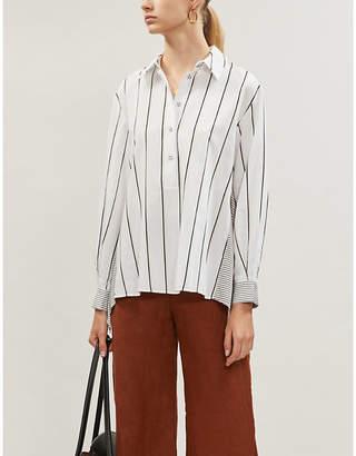 Diane von Furstenberg Desiree contrast-back woven shirt