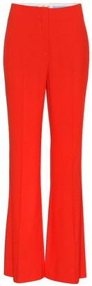 High-waisted flared pants