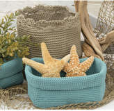 Heritage Lace Mode Crochet Basket With Trim