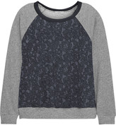 Clu Lace and jersey sweatshirt
