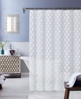 """Thumbnail for your product : Dainty Home Katie Diamond Design Shower Curtain, 70"""" x 72"""" Bedding"""