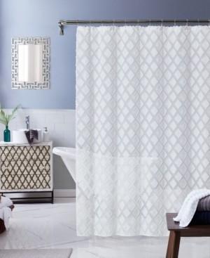 """Dainty Home Katie Diamond Design Shower Curtain, 70"""" x 72"""" Bedding"""