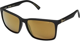 Von Zipper VonZipper Lesmore Polar (Black Satin/Wild Gold Flash Polar Plus) Sport Sunglasses