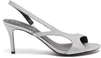 Stella Luna Asymmetric strap open toe leather sandals