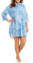 Lauren Ralph Lauren Plus Watercolor Floral Jersey Sleepshirt