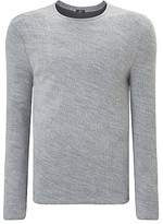 Denham Pathway Crew Neck Jumper, Grey Marl