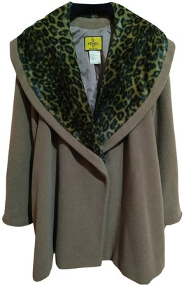 Fendi Camel Wool Coat for Women Vintage