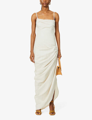 Jacquemus La Robe Saudade Longue woven maxi dress