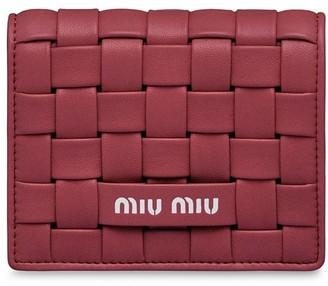 Miu Miu Small Woven Tri-Fold Wallet