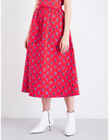 Kenzo Quilted cotton maxi skirt