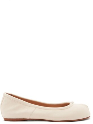 Maison Margiela Tabi Split-toe Leather Ballet Flats - White