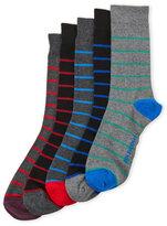 Ben Sherman 5 Pack Assorted Striped Socks
