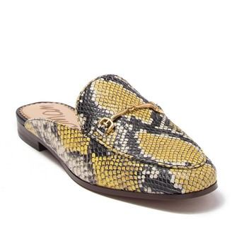 Sam Edelman Linnie Leather Embossed Snakeskin Bit Loafer