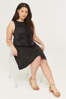 Ardene Plus Size Scuba Dress with Lace