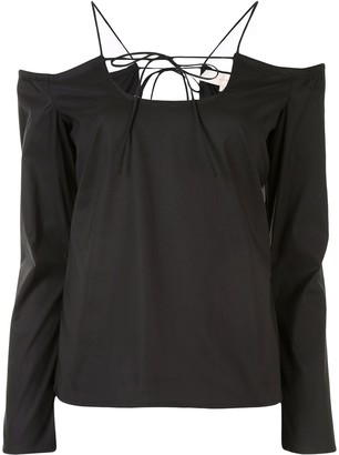By Any Other Name Cold Shoulder Top