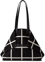Akris Medium Ai Reversible Leather Tote - Black