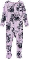 Joe Fresh Baby Girls' Print Knit Sleeper, Pale Purple (Size 12-18)