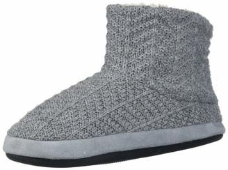Dearfoams Women's Sweater Knit Bootie Pile Lining Slipper