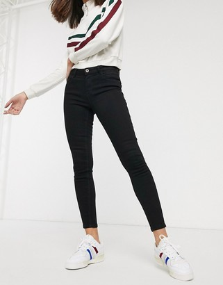 Only Daisy mid rise skinny jeans in black
