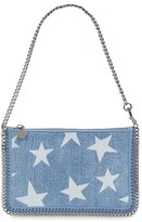 Stella McCartney 'Falabella' Denim Pouch With Convertible Strap - Blue