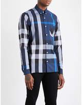 Burberry Large check regular-fit cotton-blend shirt