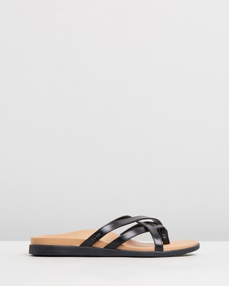 Vionic Women's Black Strappy sandals - Daisy Slide Sandals - Size One Size, 5 at The Iconic